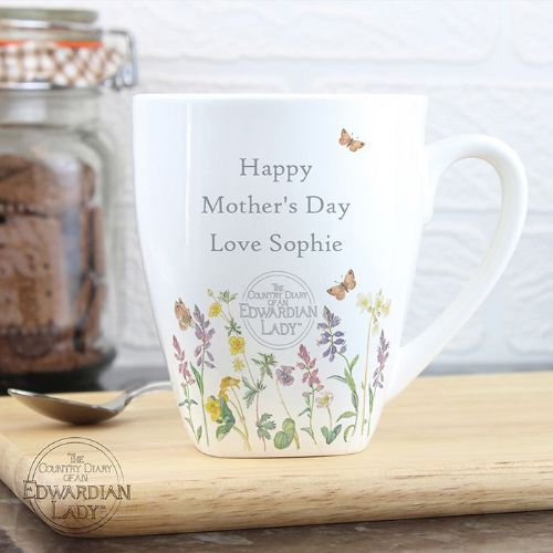 Personalised Country Diary Wild Flowers Mug